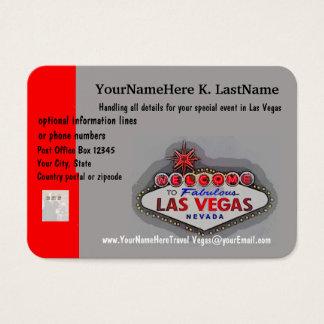 Tarjeta De Visita Planificador del viaje de Las Vegas