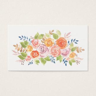 Tarjeta De Visita Plantilla color de rosa floral del modelo de la