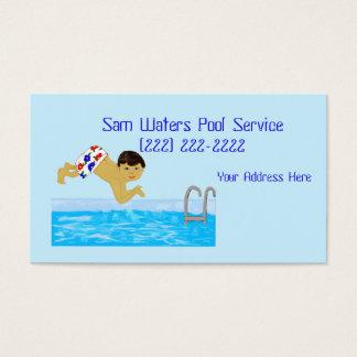 Tarjeta De Visita Plantilla de la natación del muchacho de la