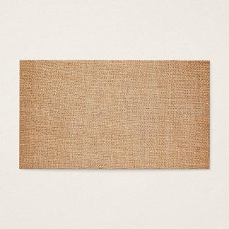 Tarjeta De Visita Plantilla - fondo de la arpillera