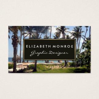 Tarjeta De Visita Playa tropical