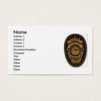 Tarjeta De Visita policía del condado de Horry, nombre, dirección 1,