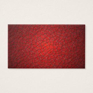 Tarjeta De Visita Polígonos rojos