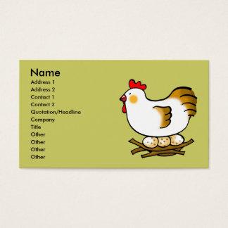 Tarjeta De Visita pollo y huevos lindos