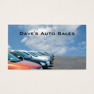 Tarjeta De Visita Porción del concesionario de automóviles