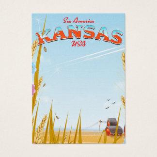Tarjeta De Visita Poster retro del viaje de la granja de Kansas los
