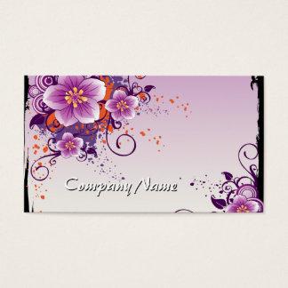 Tarjeta De Visita Pradera púrpura de la flor subió