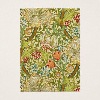 Tarjeta De Visita Pre-Raphaelite de oro del vintage del lirio de