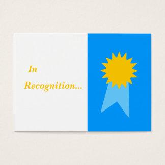 Tarjeta De Visita Premios del estudiante de Blue Ribbon del profesor