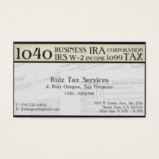 Tarjeta De Visita Preparación del impuesto