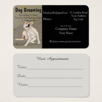 Tarjeta De Visita preparación del perro y cita de los servicios del