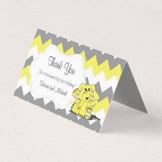 Tarjeta De Visita Primeros amarillos y grises del caramelo del