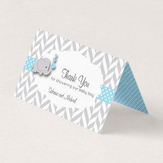 Tarjeta De Visita Primeros azules y grises del caramelo de la fiesta