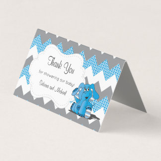 Tarjeta De Visita Primeros azules y grises del caramelo del elefante
