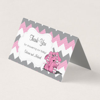 Tarjeta De Visita Primeros rosados y grises del caramelo del