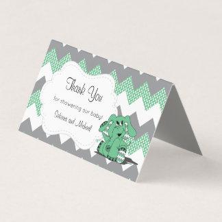 Tarjeta De Visita Primeros verdes y grises del caramelo del elefante