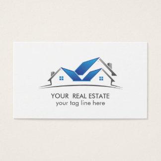Tarjeta De Visita Profesional azul del agente inmobiliario de la