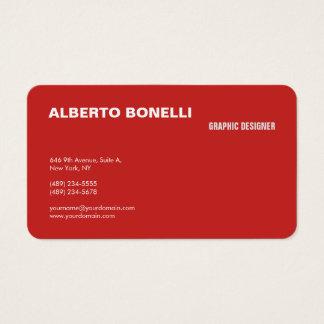 Tarjeta De Visita Profesional blanco rojo minimalista llano moderno