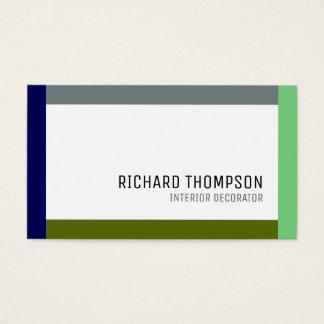 tarjeta de visita profesional de la decoración con