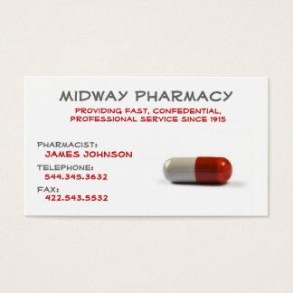 Tarjeta de visita profesional de la farmacia