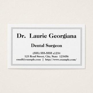 Tarjeta de visita profesional del cirujano dental