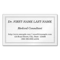 Tarjeta de visita profesional del consultor médico