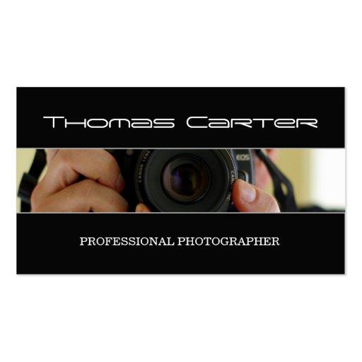 Tarjeta de visita profesional del fotógrafo/de la