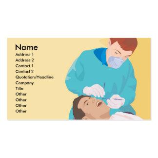 Tarjeta de visita profesional dental