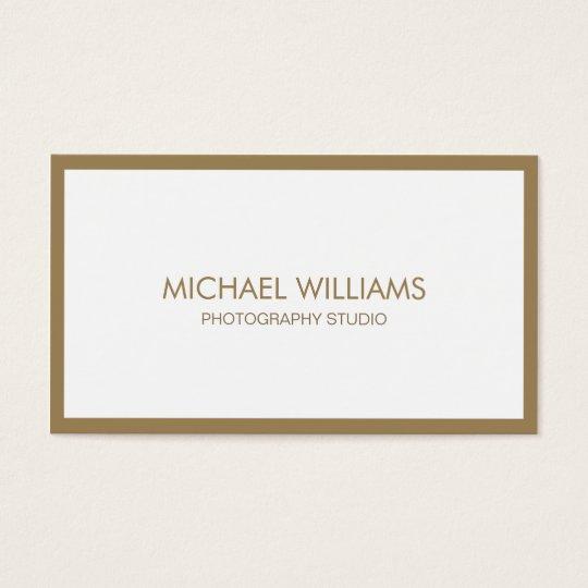 Tarjeta De Visita Profesional elegante blanco dorado nuevo fresco