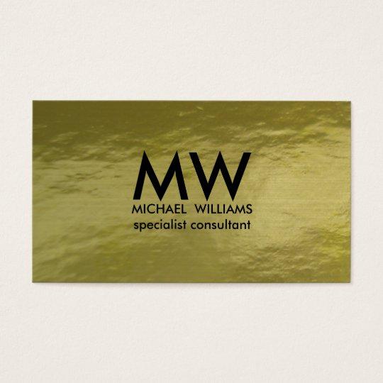 Tarjeta De Visita Profesional elegante círculo dorado simple mínimo