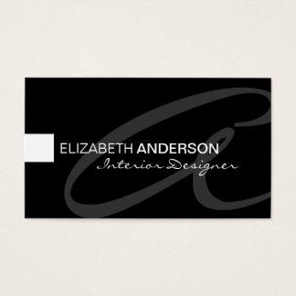 Tarjeta De Visita Profesional elegante clásico minimalista moderno