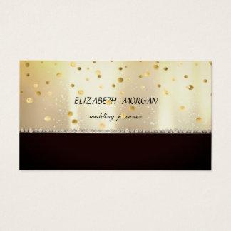 Tarjeta De Visita Profesional elegante elegante, negro, brillante,