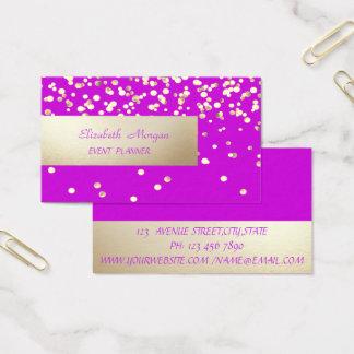 Tarjeta De Visita Profesional elegante, moderno, confeti