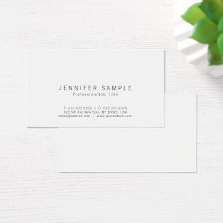 Tarjeta De Visita Profesional elegante simple moderno blanco