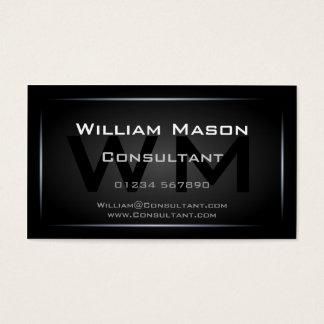 Tarjeta De Visita Profesional enmarcado negro con clase del