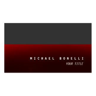 Tarjeta de visita profesional estética gris roja