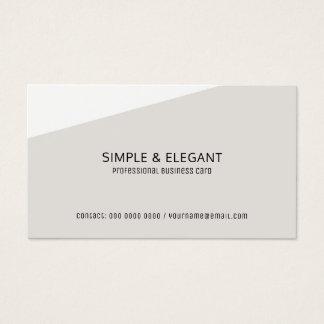 Tarjeta De Visita profesional gris pálido moderno elegante