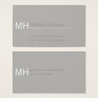 Tarjeta De Visita profesional gris y moderno elegante