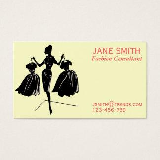 Tarjeta De Visita Profesional independiente del consultor de moda
