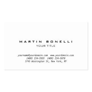 Tarjeta de visita profesional llana simple tarjetas de visita