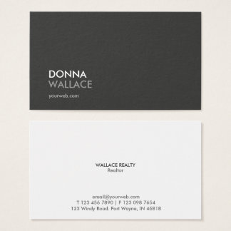 Tarjeta de visita profesional minimalista moderna