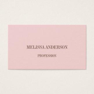 Tarjeta de visita profesional minimalista rosada
