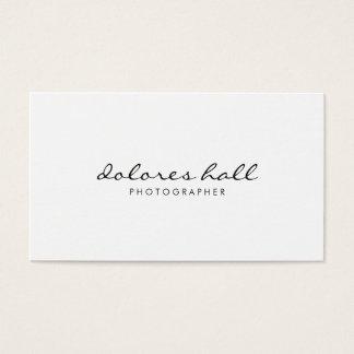 Tarjeta de visita profesional moderna minimalista