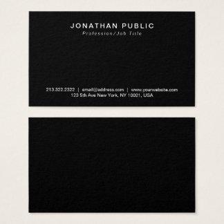 Tarjeta De Visita Profesional negro moderno llano elegante mínimo