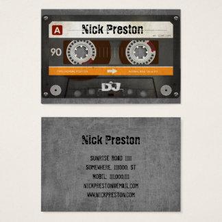 Tarjeta De Visita Profesional retro fresco del casete audio el | DJ