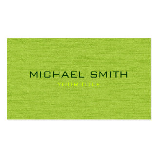 Tarjeta de visita profesional verde