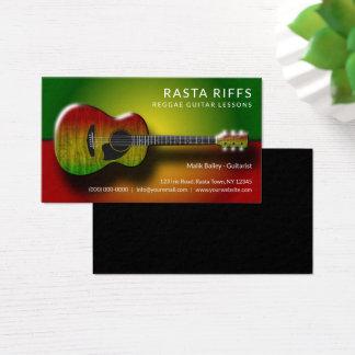 Tarjeta De Visita Profesor de música de las lecciones de la guitarra