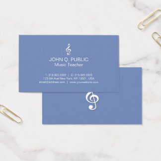 Tarjeta De Visita Profesor de música profesional moderno llano