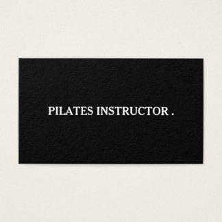 Tarjeta De Visita Profesor del instructor de la yoga de Pilates