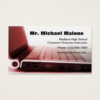 Tarjeta De Visita Profesor Info del técnico del teclado del